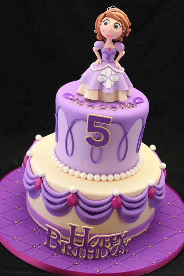 Torta di Sofia la Principessa con decorazioni in pasta di zucchero n.04