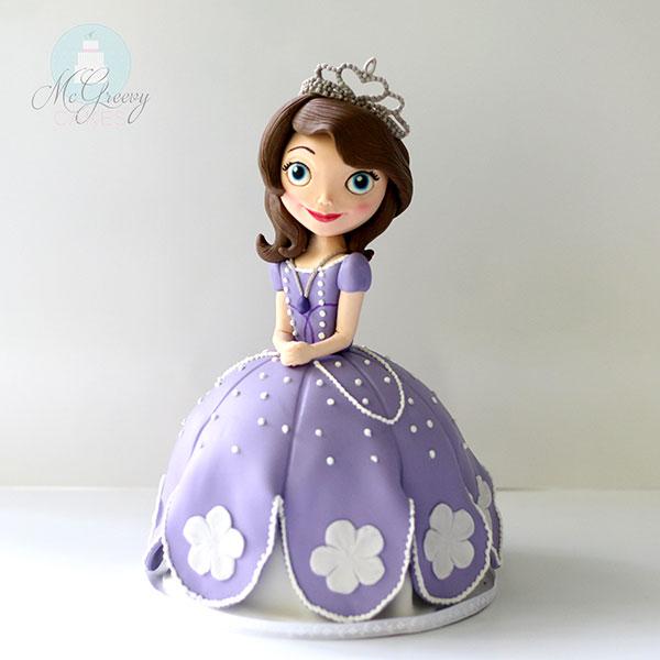 Torta di Sofia la Principessa con decorazioni in pasta di zucchero n.17