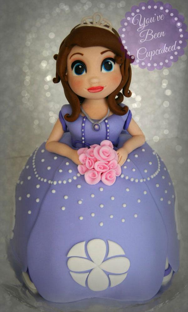 Torta di Sofia la Principessa con decorazioni in pasta di zucchero n.29