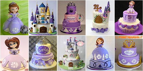 Idee per decorare torte di Sofia la Principessa