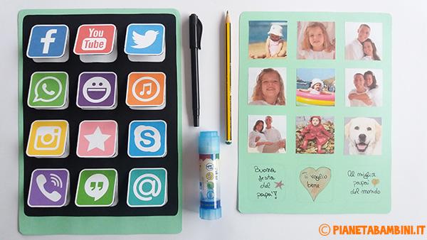 Come aggiungere le foto ed i messaggi al tablet di carta per la festa del papà