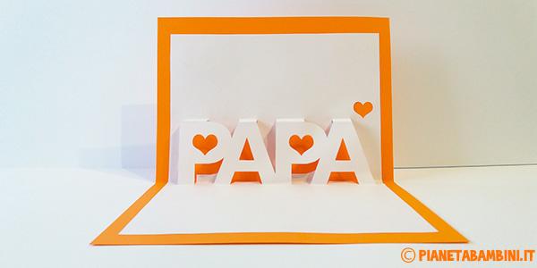 Biglietto pop-up con scritta papà