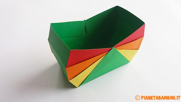 Come completare la base del cestino pasquale di cartoncino