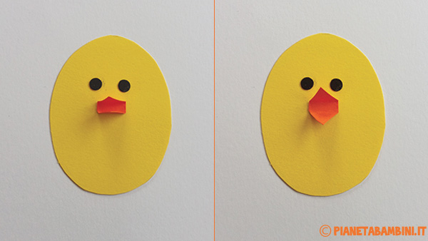 Come creare la sagome del pulcino con cartoncini colorati