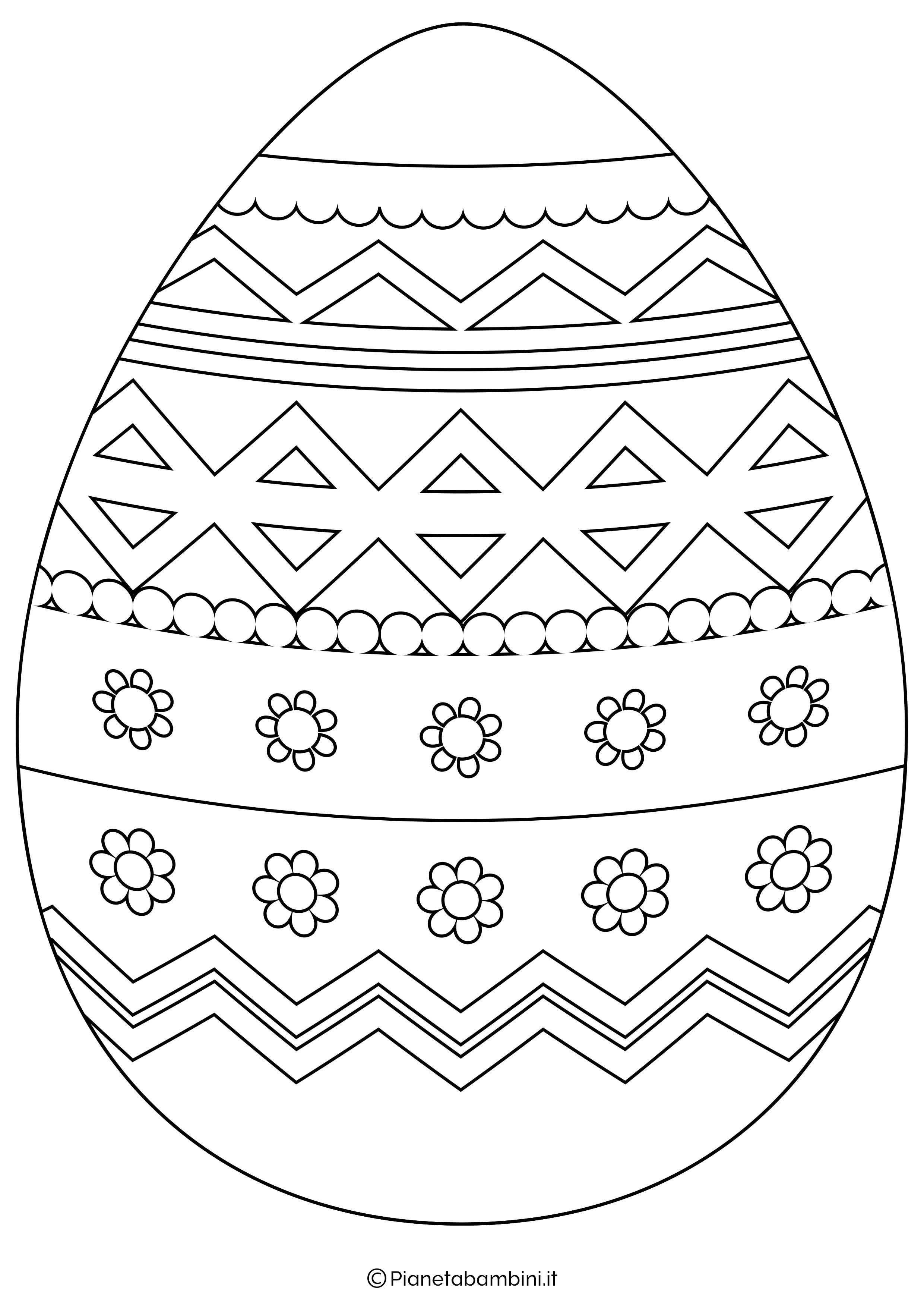 Sagome e disegni di uova di pasqua da stampare e colorare for Disegni da colorare di pasqua