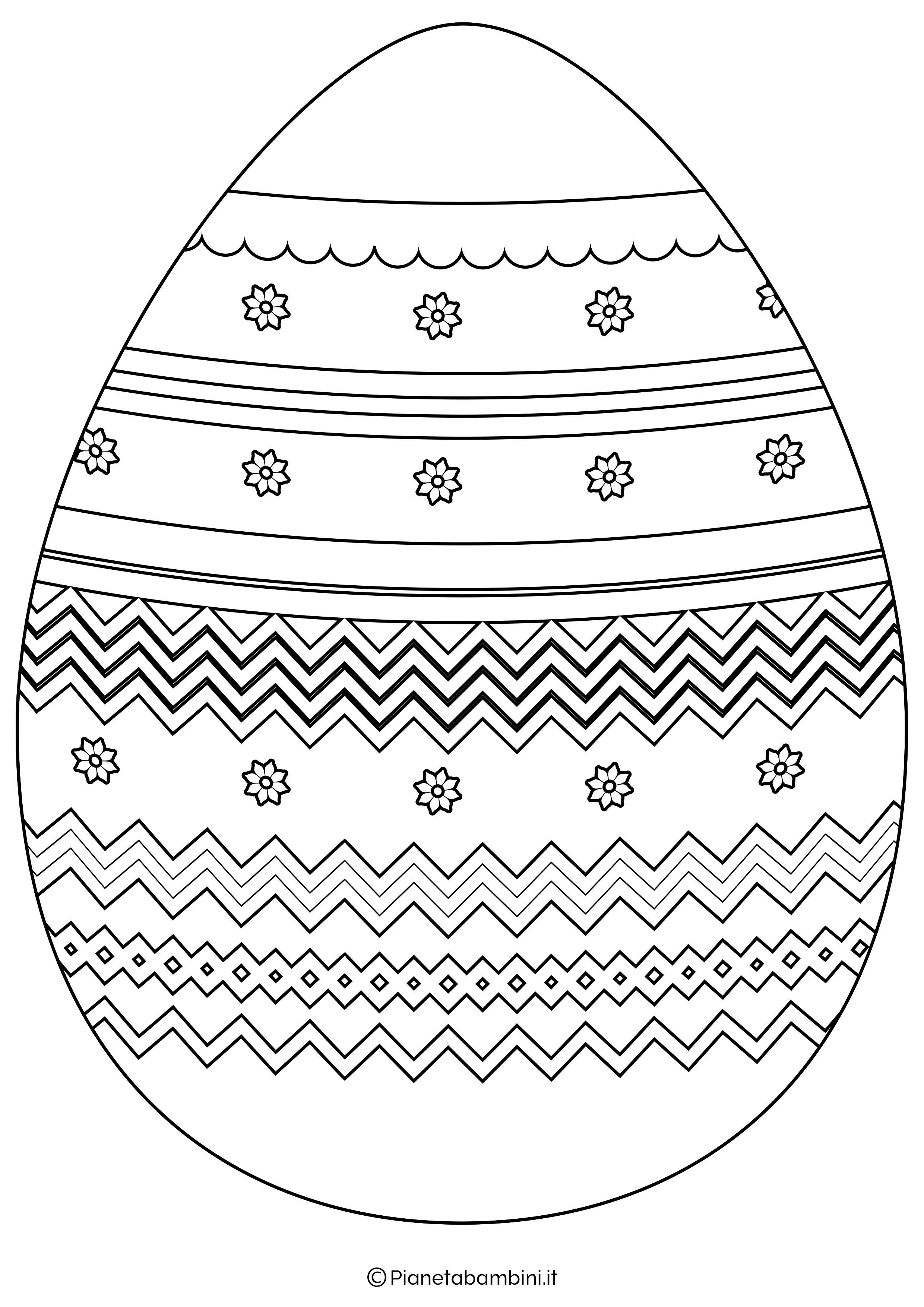 Disegni Uova Di Pasqua Da Scaricare