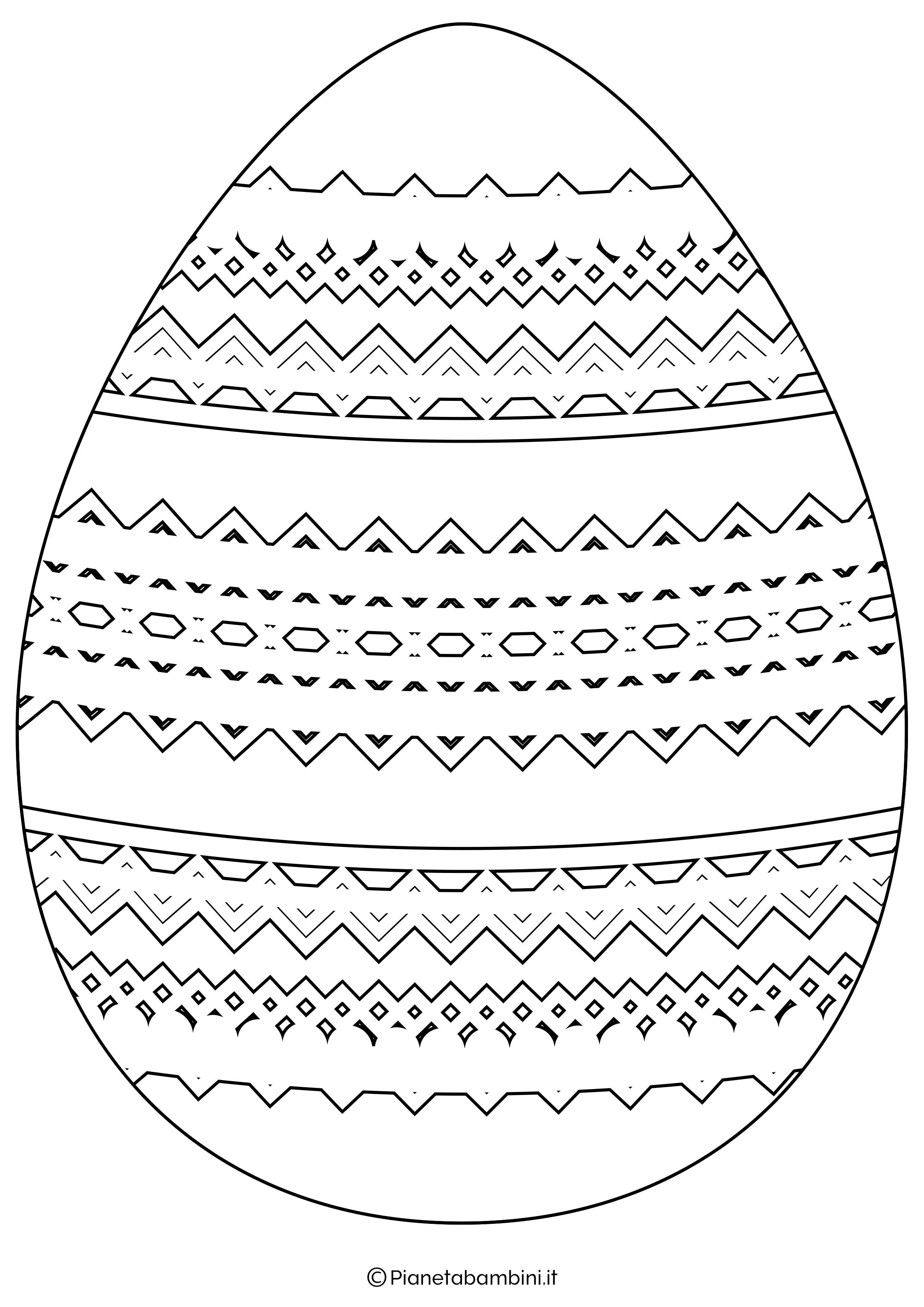 Sagome E Disegni Di Uova Di Pasqua Da Stampare E Colorare