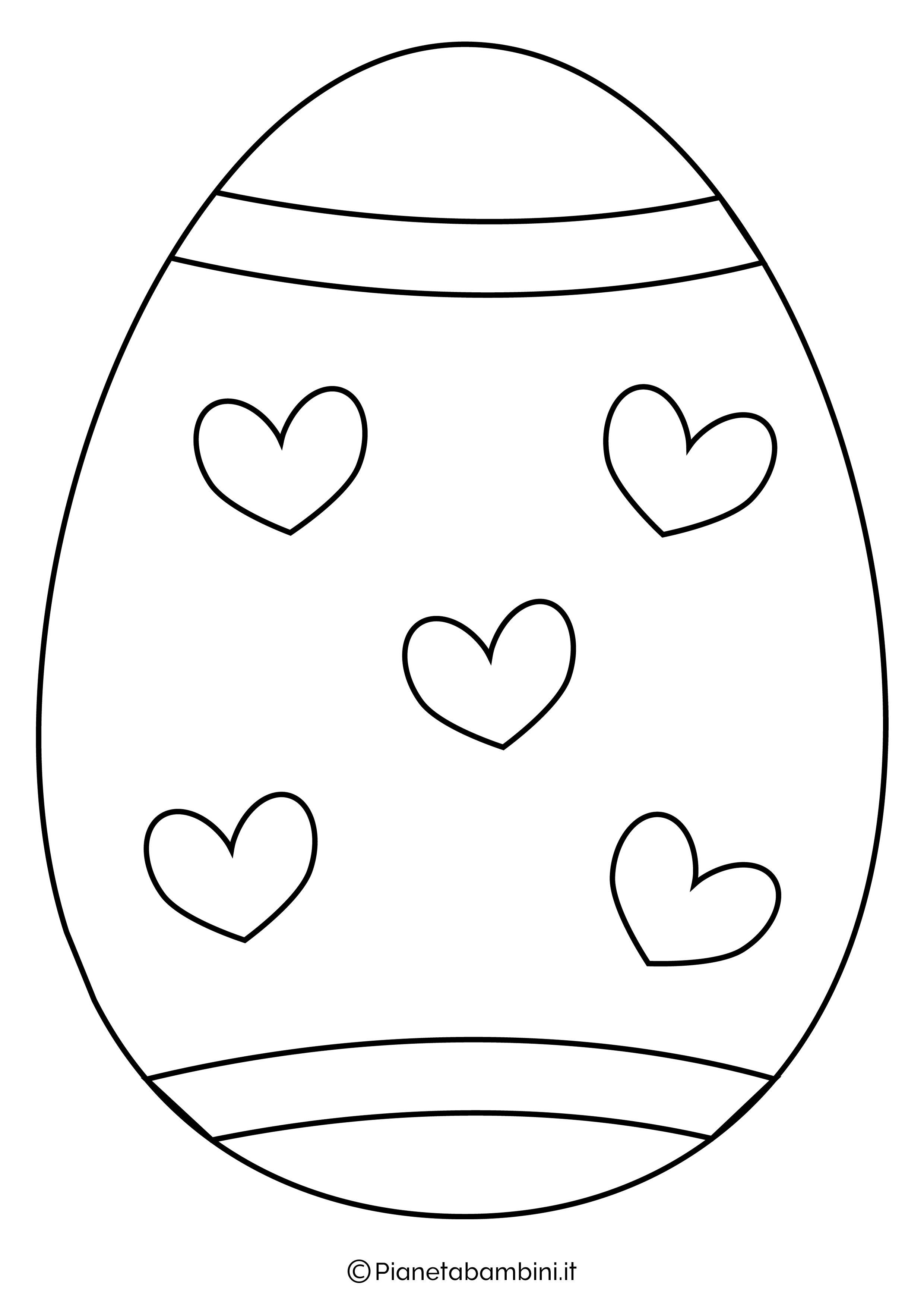 Sagome E Disegni Di Uova Di Pasqua Da Stampare E Colorare Pianetabambini It
