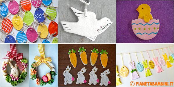 Idee per creare lavoretti di Pasqua con la pasta di sale