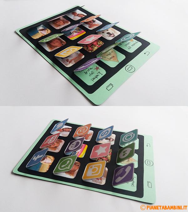 Tablet di carta da realizzare come lavoretto per la festa del papà