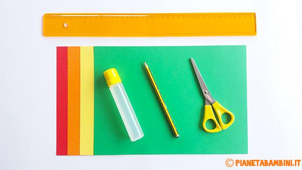Occorrente per la creazione del cestino pasquale di cartoncino