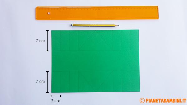 Misure per la creazione del cestino pasquale di cartoncino