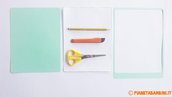 Come ritagliare il contorno del tablet di carta per la festa del papà
