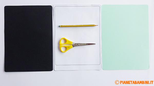 Come ritagliare le sagome per la creazione del tablet di carta per la festa del papà