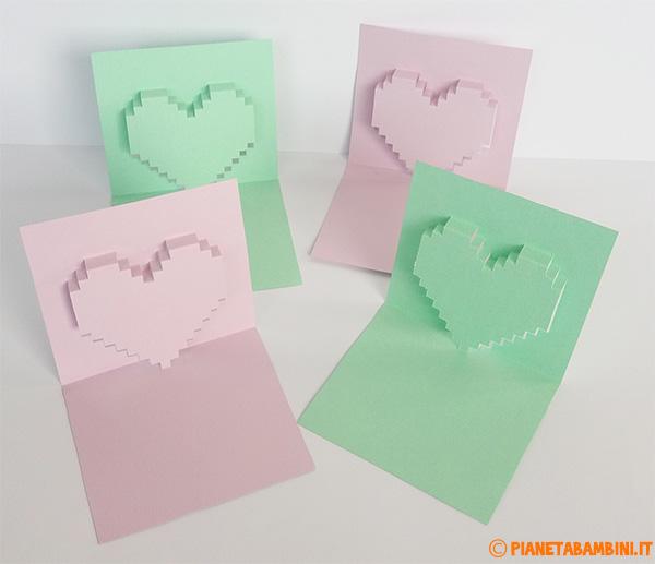 Come creare dei biglietti pop-up con cuore fai da te