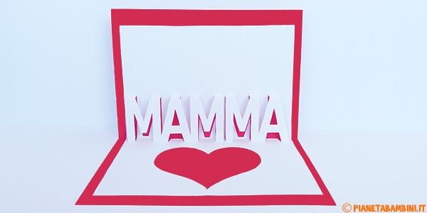 Biglietto pop-up per la festa della mamma per bambini