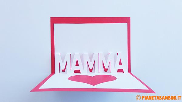 Come incollare le parti del biglietto pop-up per la festa della mamma