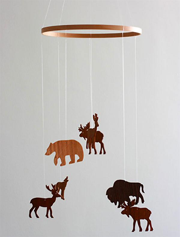 Giostrina per culla con animali della foresta