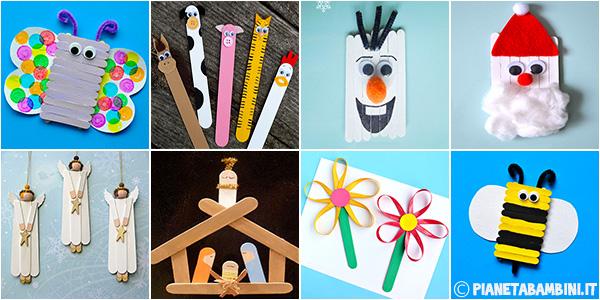 Idee per lavoretti per bambini da creare con bastoncini da gelato