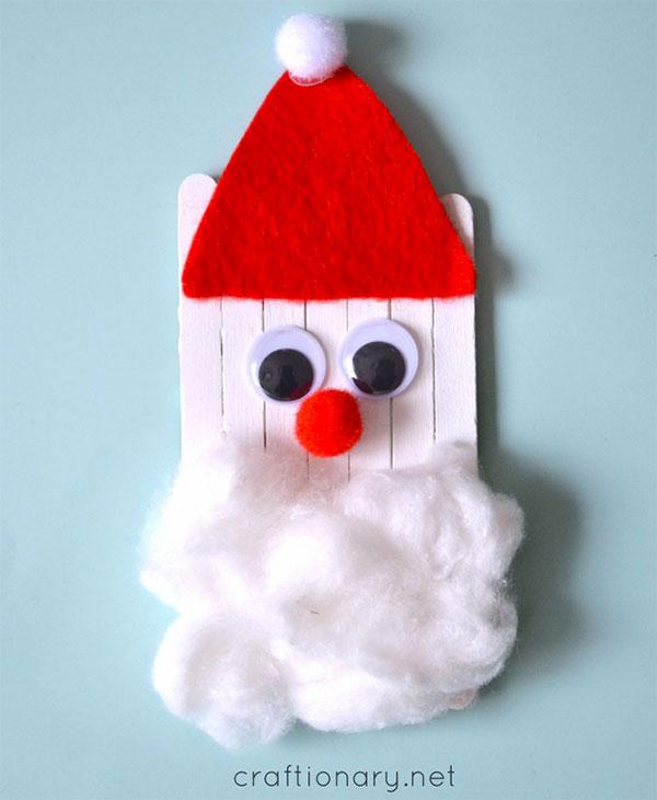 Babbo Natale con bastoncini da gelato