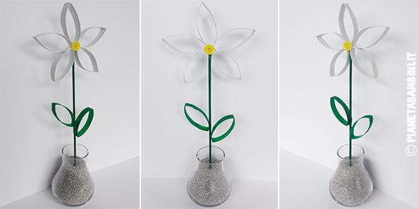 Come creare una margherita con fine rotolo di carta come lavoretto di primavera