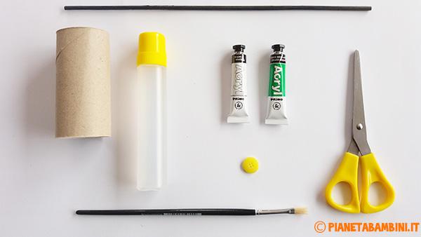 Occorrente per la creazione della margherita con rotoli di carta