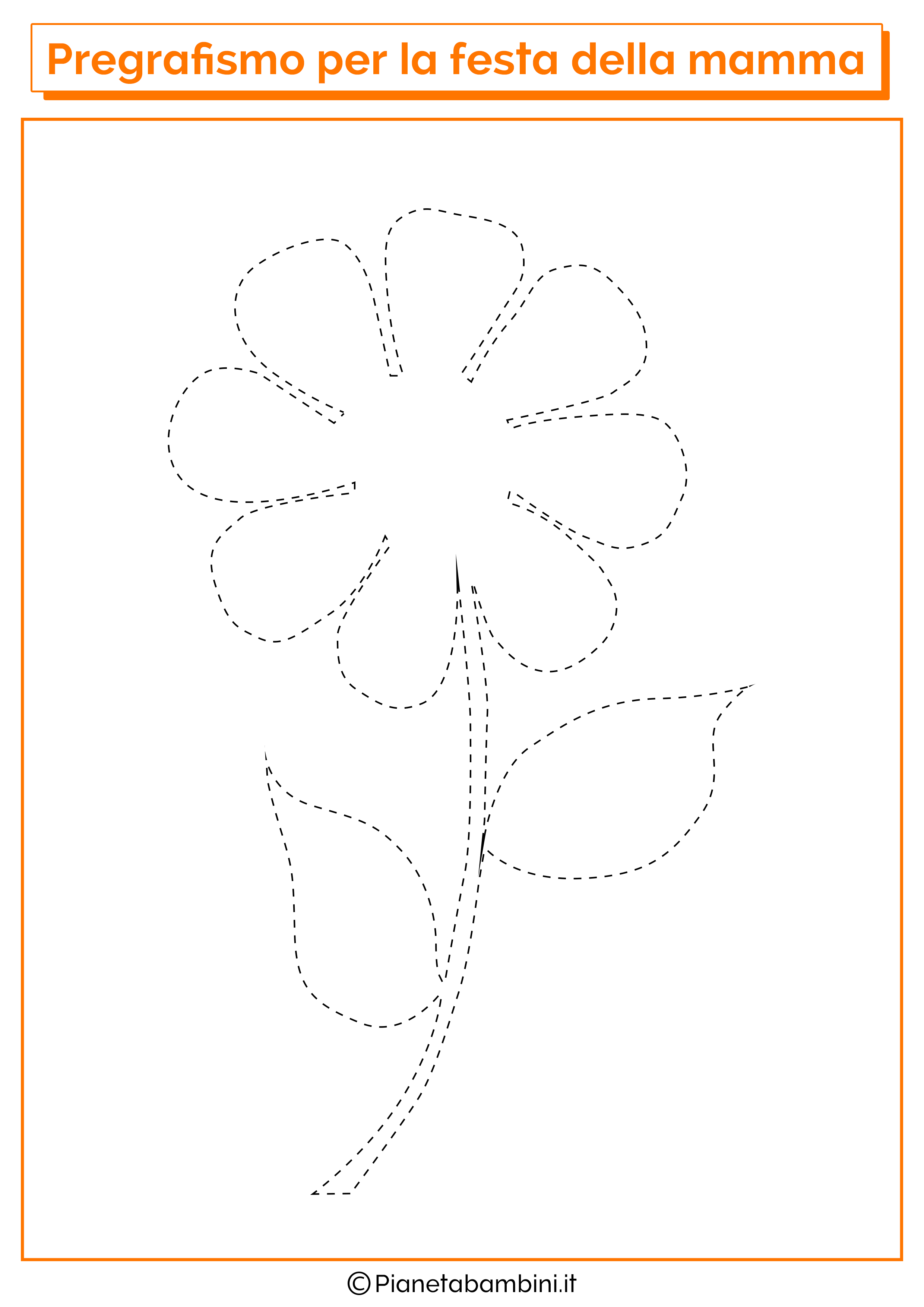 Scheda di pregrafismo festa della mamma linee disegno 03