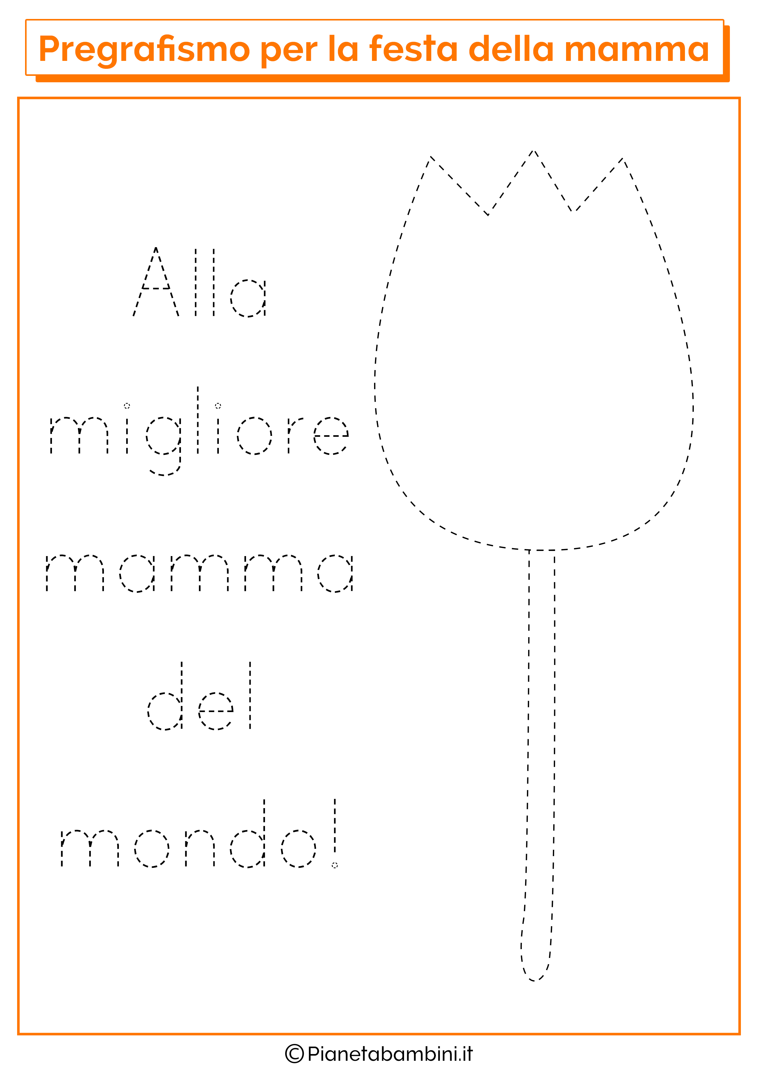 Scheda di pregrafismo festa della mamma linee disegno 04