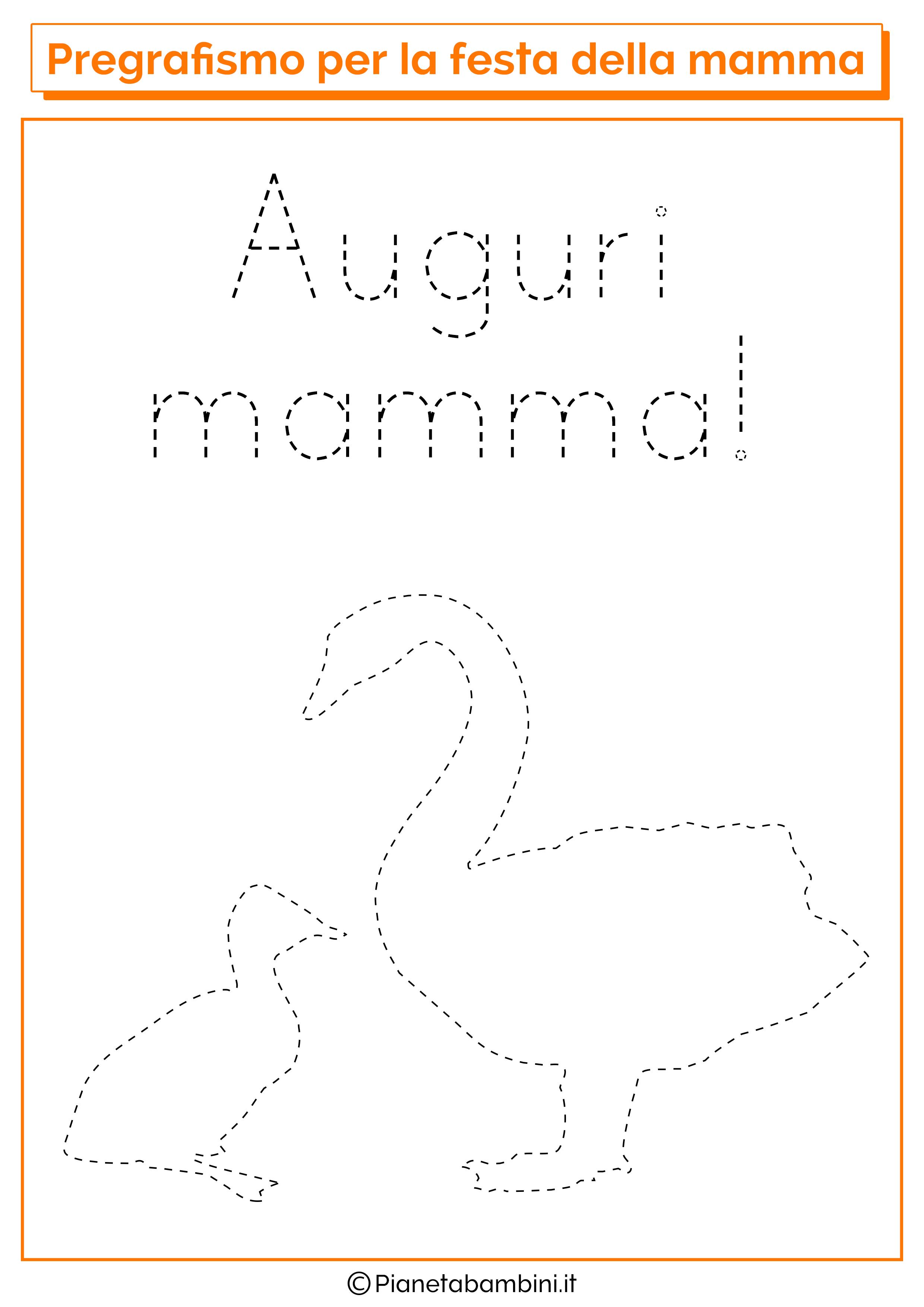 Scheda di pregrafismo festa della mamma linee disegno 05