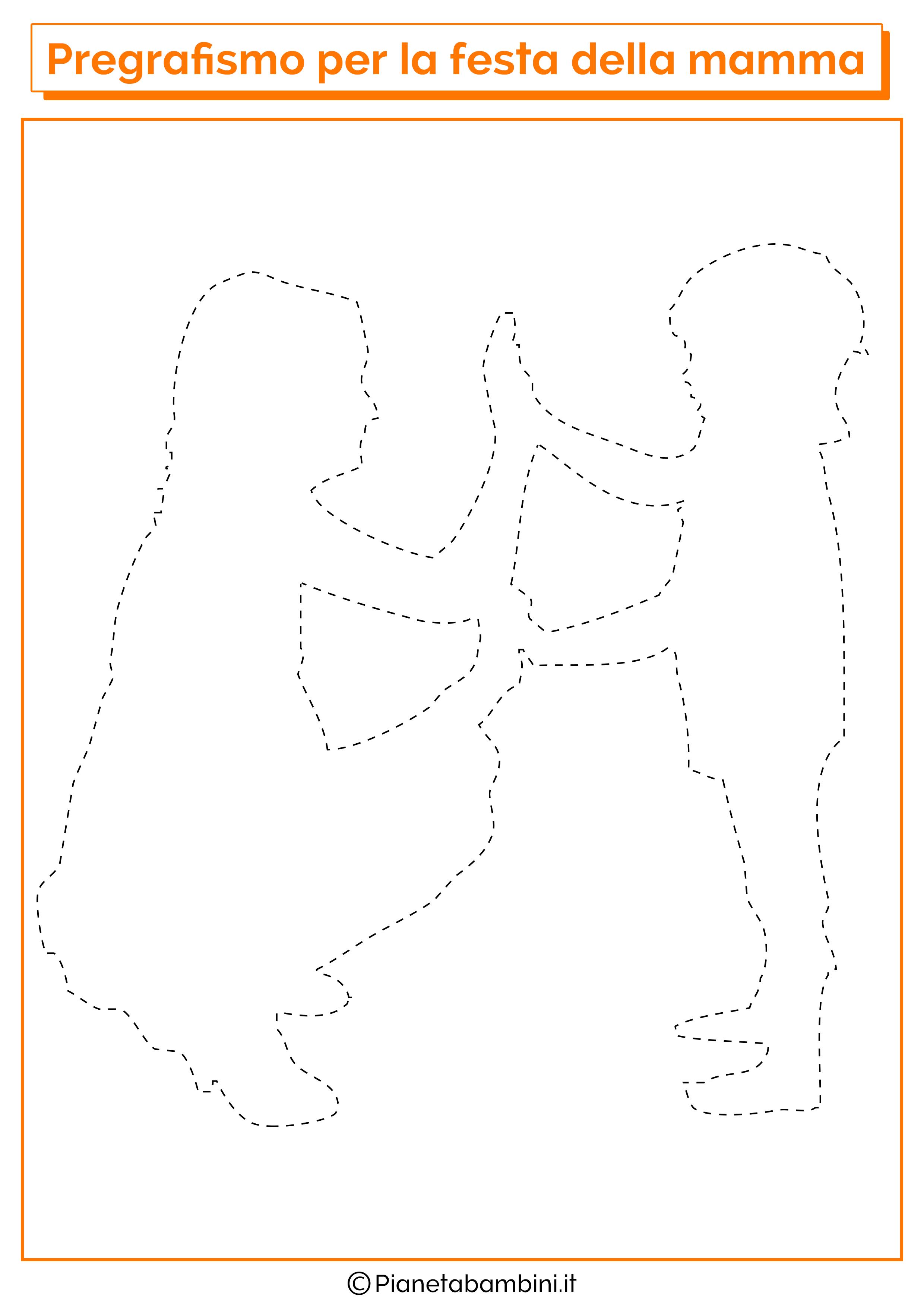 Scheda di pregrafismo festa della mamma linee disegno 10