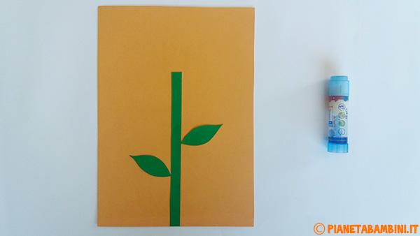 Come creare le sagome dello stelo e delle foglie per la creazione del fiore