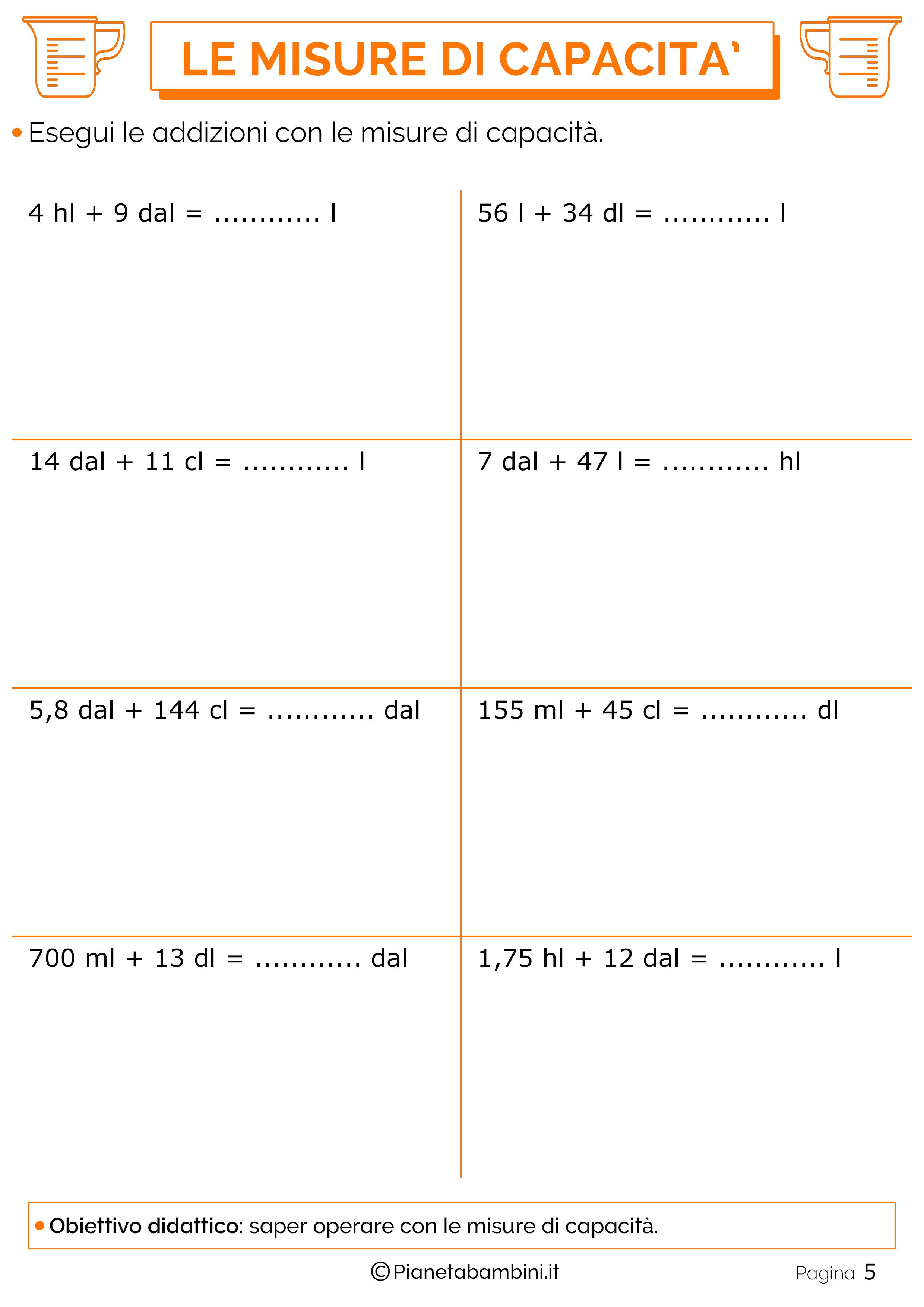 Addizioni-Misure-Capacita