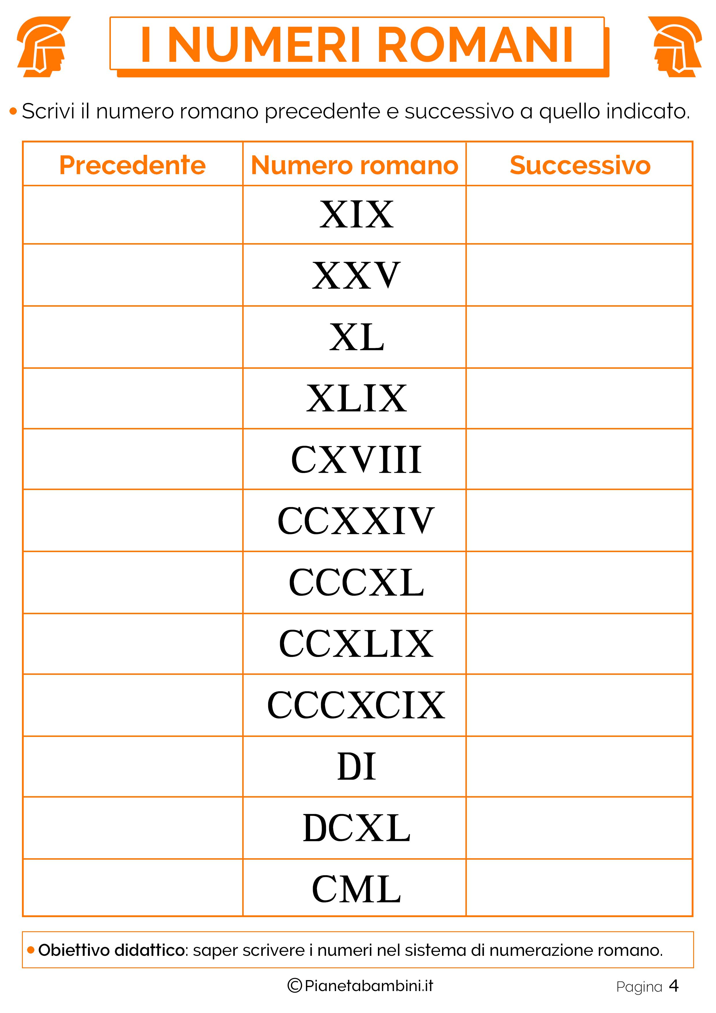 Favorito Esercizi sui Numeri Romani per la Scuola Primaria | PianetaBambini.it MX95