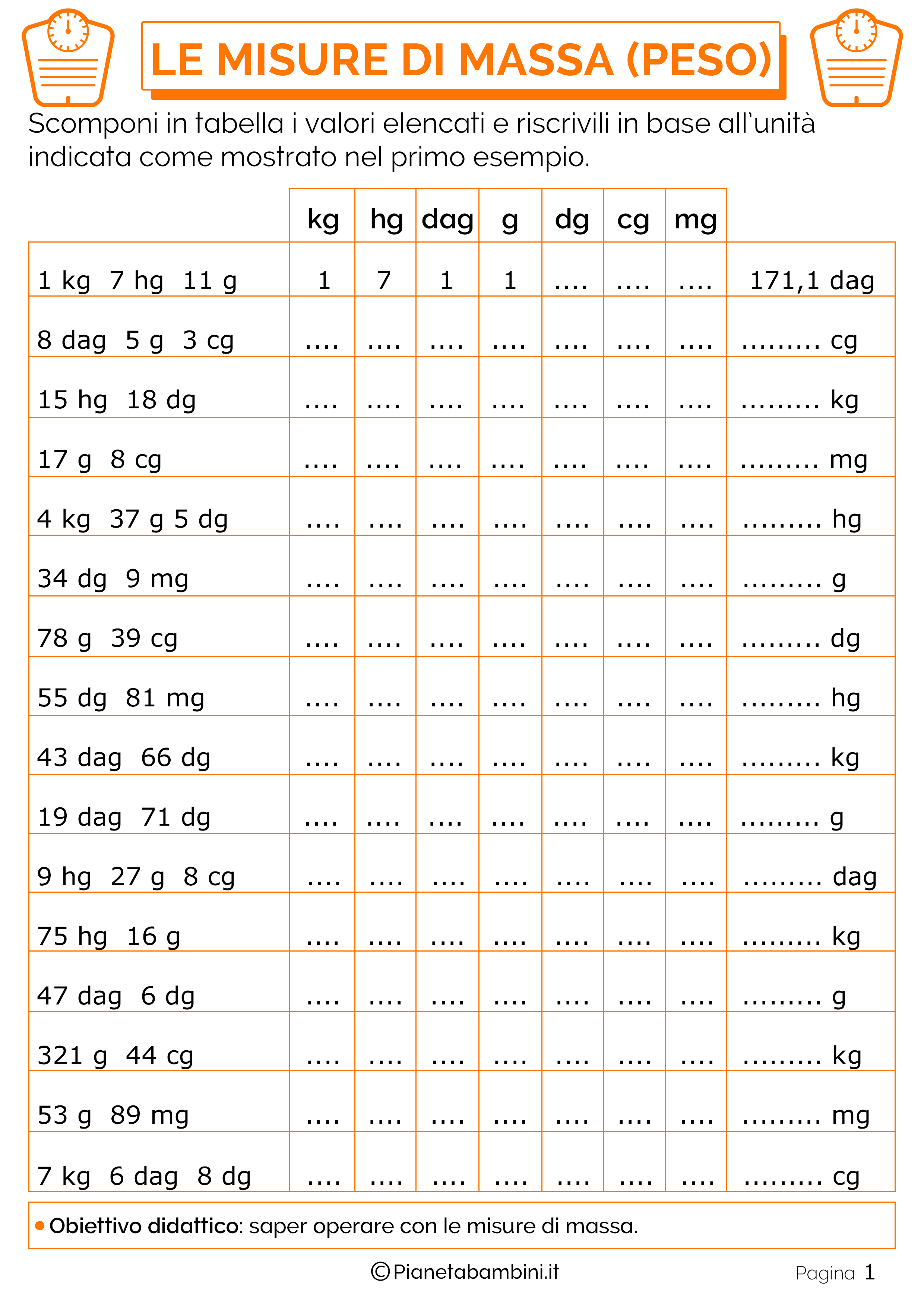 Esercizi-Scomposizione-Misure-Massa-Peso-1