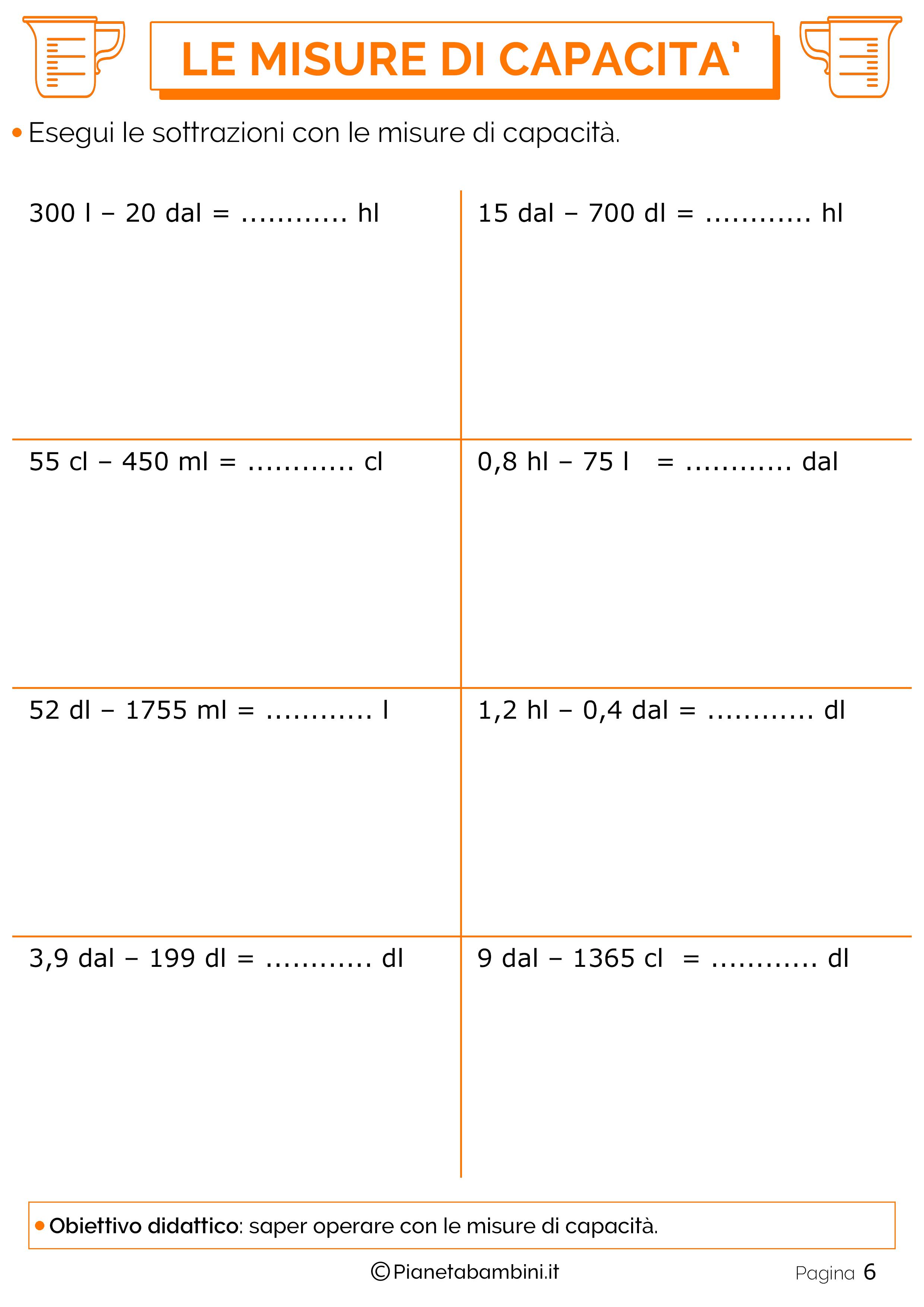 Sottrazioni-Misure-Capacita