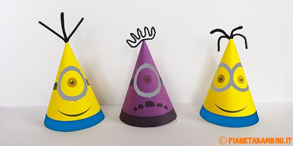 Cappellini dei Minions fai da te da stampare gratis