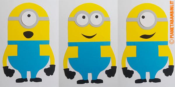 Come creare i Minions con sagome di cartoncino da stampare gratis