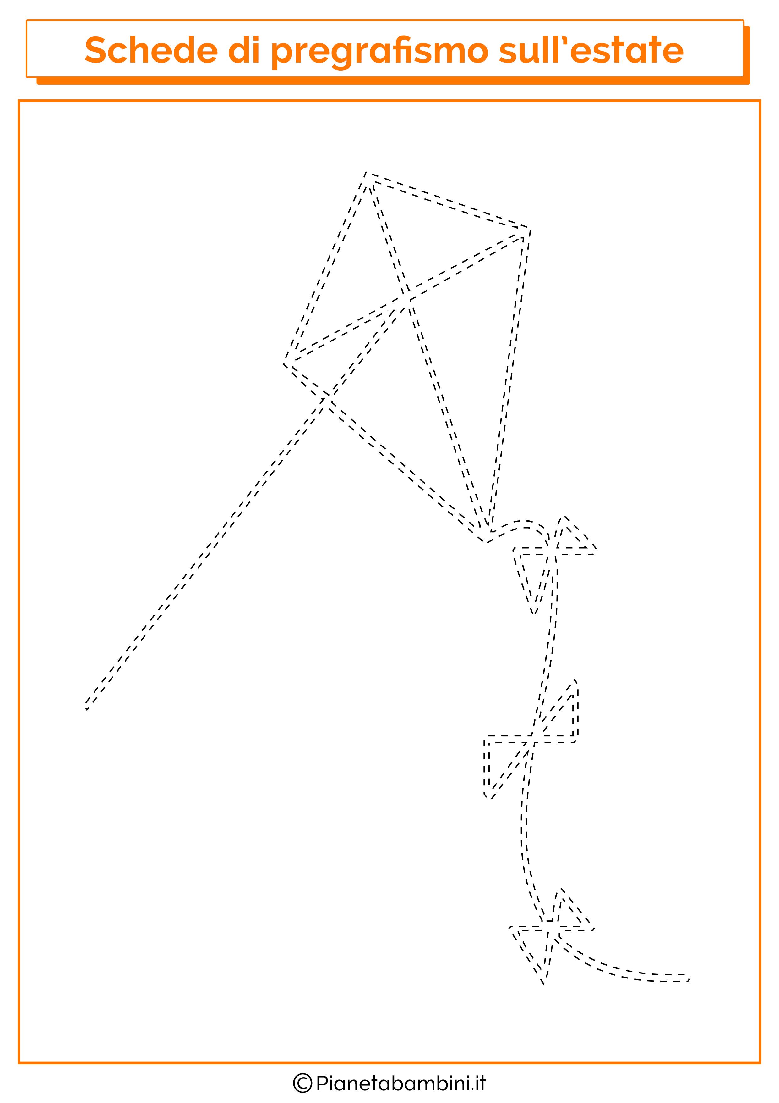 Scheda di pregrafismo sull'aquilone