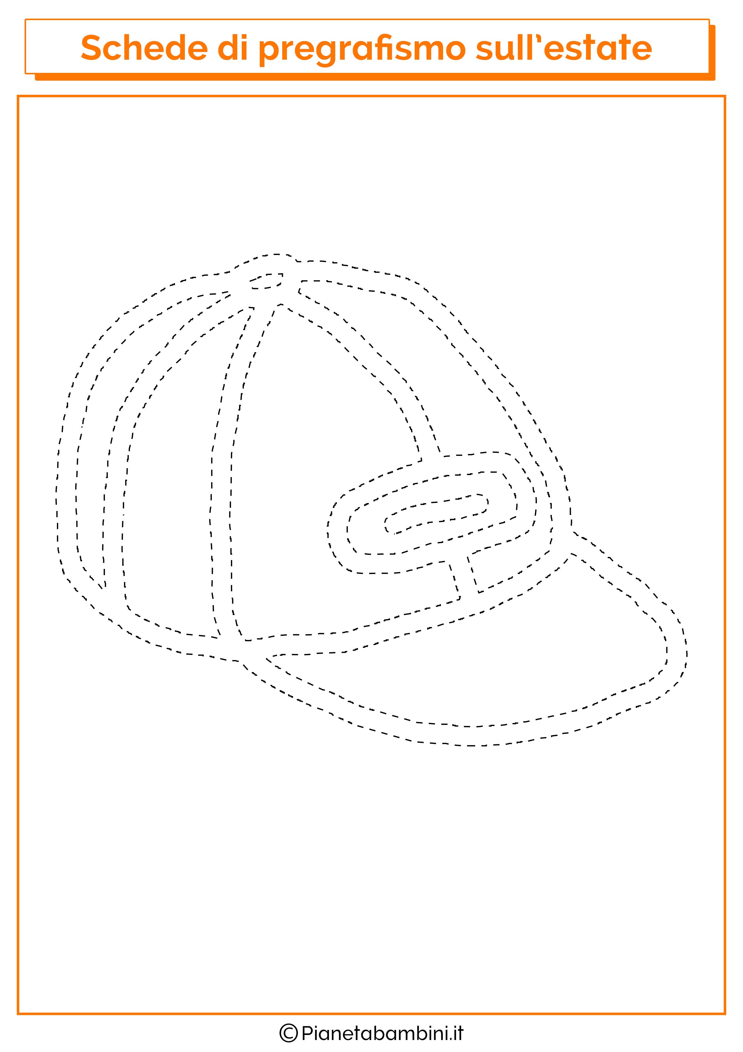 Scheda di pregrafismo sul cappellino