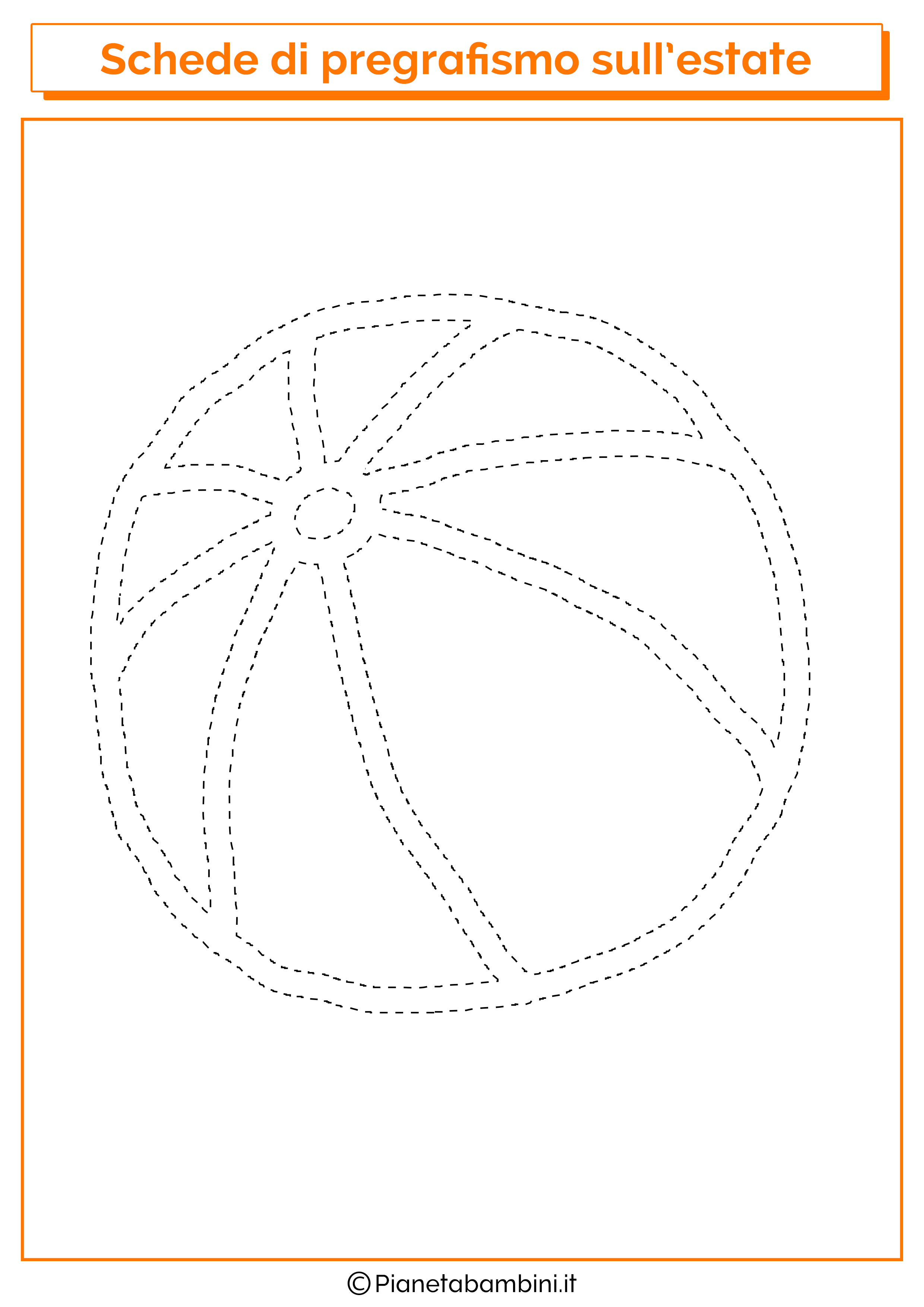 Scheda di pregrafismo sul pallone