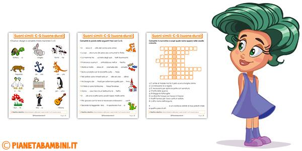 Schede didattiche su C e G per bambini della scuola primaria