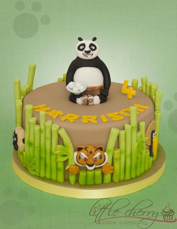 Torta di Kung Fu Panda con decorazioni in pasta di zucchero n.02