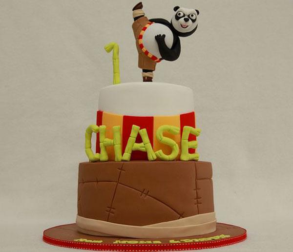Torta di Kung Fu Panda con decorazioni in pasta di zucchero n.04