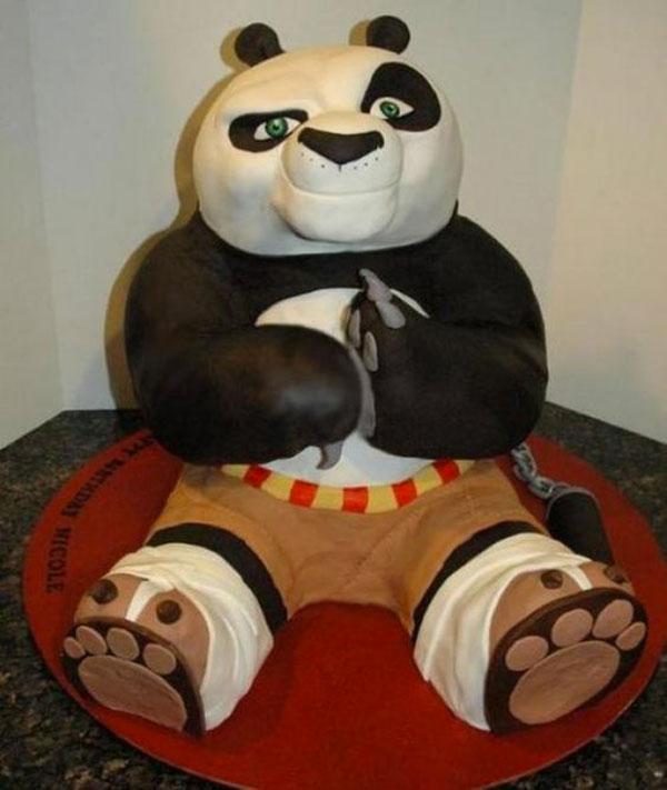 Torta di Kung Fu Panda con decorazioni in pasta di zucchero n.06