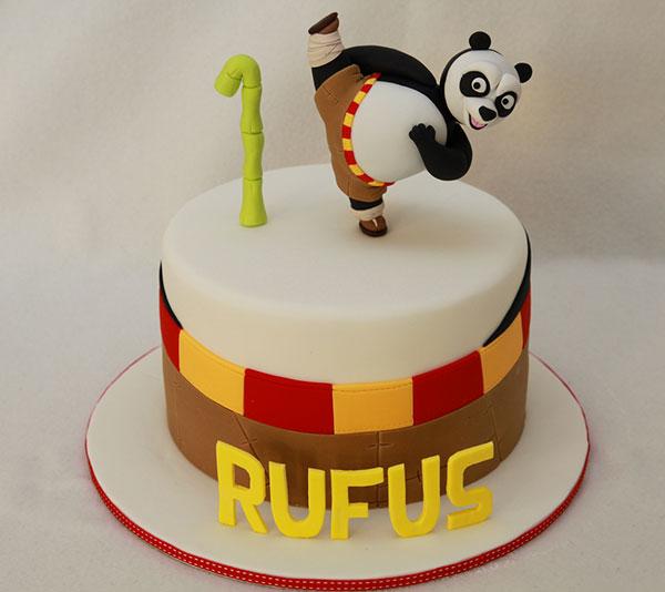 Torta di Kung Fu Panda con decorazioni in pasta di zucchero n.07