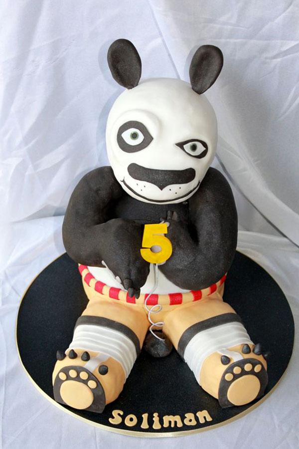 Torta di Kung Fu Panda con decorazioni in pasta di zucchero n.11