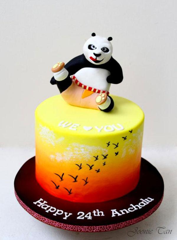 Torta di Kung Fu Panda con decorazioni in pasta di zucchero n.13