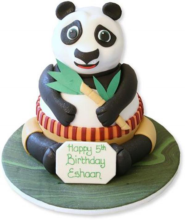Torta di Kung Fu Panda con decorazioni in pasta di zucchero n.21