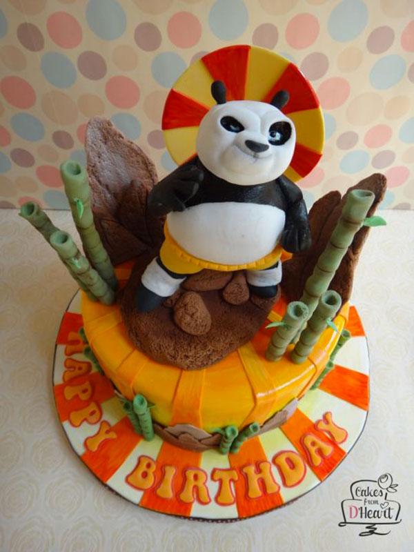 Torta di Kung Fu Panda con decorazioni in pasta di zucchero n.45