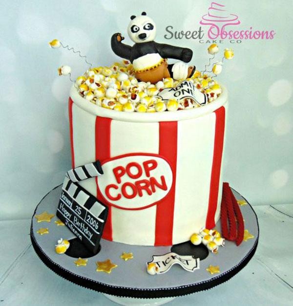 Torta di Kung Fu Panda con decorazioni in pasta di zucchero n.46